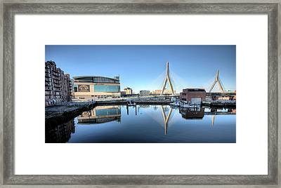 The Zakim Framed Print by JC Findley