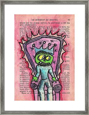 The Zombie Lizard King Framed Print by Jera Sky