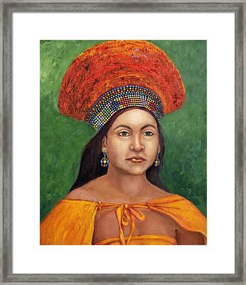 The Zulu Bride Framed Print by Enzie Shahmiri
