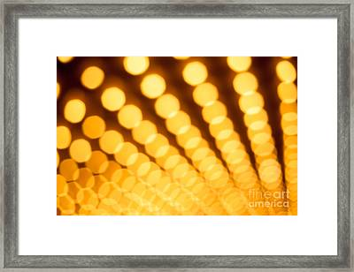 Theater Lights In Rows Defocused Framed Print by Paul Velgos