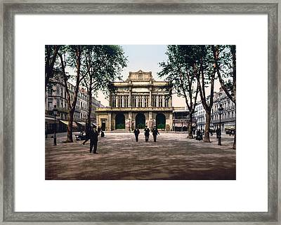 Theatre And Promenade In Beziers - France Framed Print by International  Images