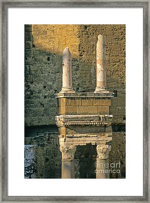 Theatre D'orange. Provence. Framed Print by Bernard Jaubert