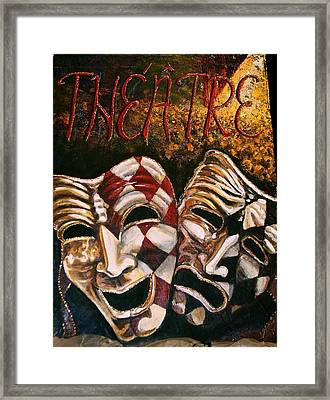 Theatre Masks Comedy And Tragedy Framed Print by Martha Bennett