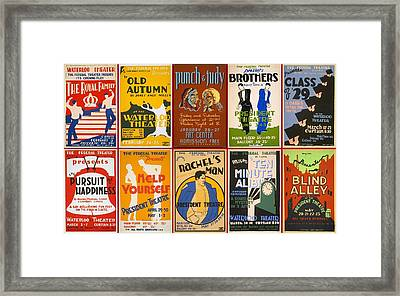 Theatre Posters Of The 1930s And 1940s Framed Print by Don Struke