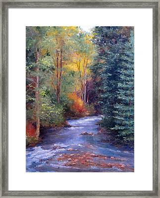 Thecreekearlyfall Framed Print by Victoria  Broyles