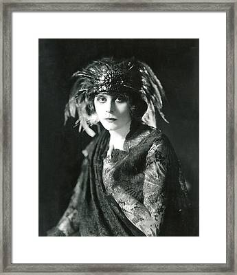 Theda Bara In The Broadway Show The Framed Print by Everett