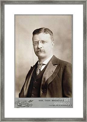 Thedore Roosevelt Framed Print by Granger