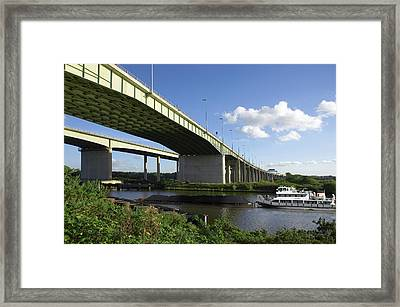 Thelwall Viaduct, Uk Framed Print by Mark Sykes