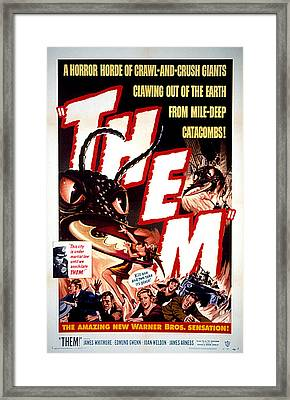 Them 1954, Poster Art Framed Print by Everett