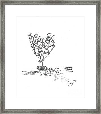 Then It Was Shattered - Sketch Framed Print by Robert Meszaros