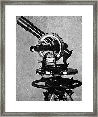 Theodolite, 1919 Framed Print by Science Source