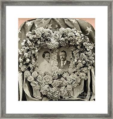 Theodore & Edith Roosevelt Framed Print by Granger