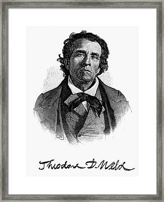 Theodore D. Weld (1803-1895) Framed Print by Granger