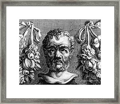 Theophrastus, Ancient Greek Polymath Framed Print by Photo Researchers