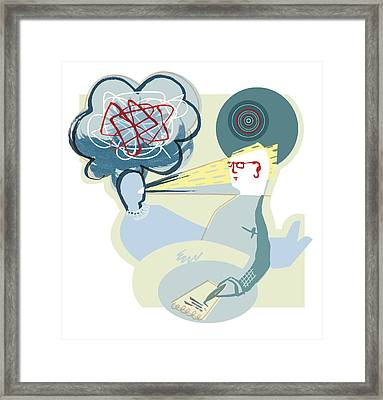 Therapy Session Framed Print by Paul Brown