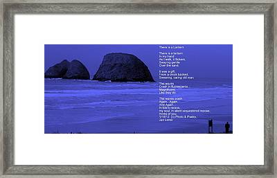 There Is A Lantern Framed Print by Jan Whidden