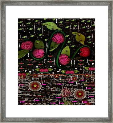 There Is Light And Love In The Lotus Pond Framed Print