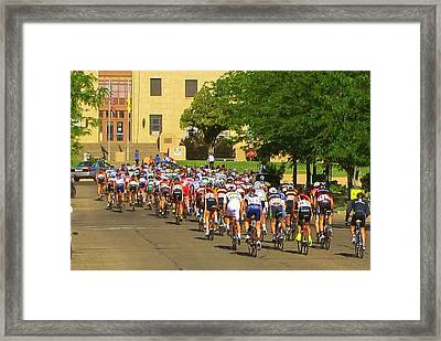 There They Go Framed Print
