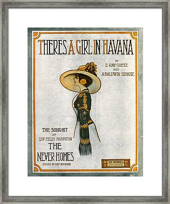 There's A Girl In Havana Framed Print by Mel Thompson