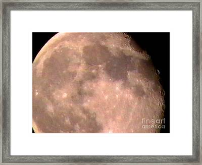 Theres A Moon Out Tonight Framed Print by John From CNY
