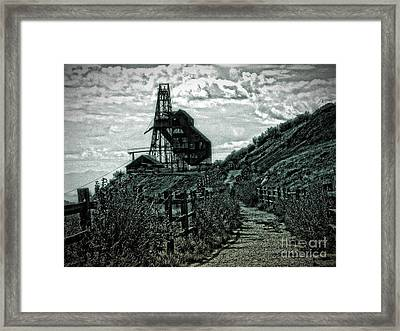 There's Gold In Them Hills Framed Print by Christina Perry