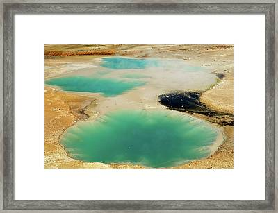 Thermal Pools Framed Print