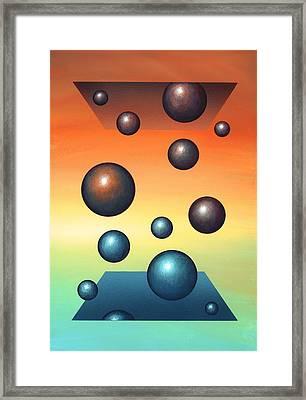 Thermodynamics, Conceptual Artwork Framed Print by Richard Bizley