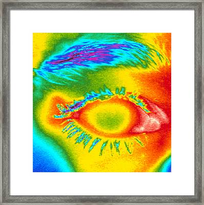 Thermogram Of A Close-up Of A Human Eye Framed Print