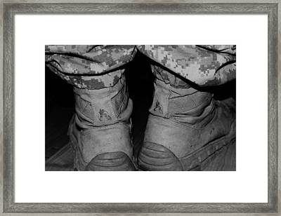 These Boots Are Finally  Home Framed Print