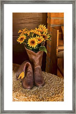 These Boots Were Made For Framed Print
