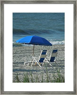 These Chairs Are Calling Your Name Framed Print