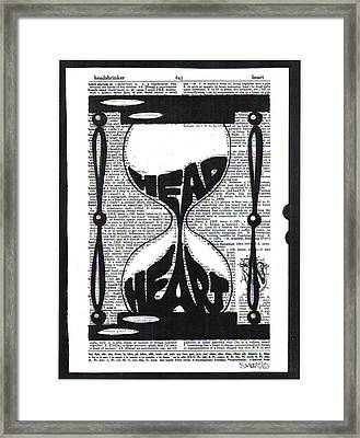 These Things Take Time Head Heart Hourglass Framed Print