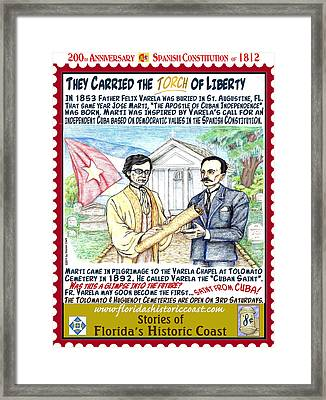 They Carried The Torch Of Liberty Framed Print