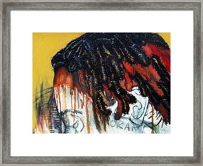 They Saw My Hair And Called Me Ignorant Before I Spoke Framed Print by Angie  Redmond Artist