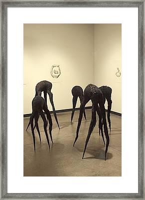 They're Already Left Framed Print by Viktor Savchenko