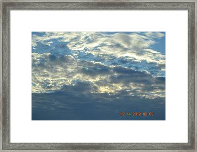 Thick Clouds Framed Print by Heidi Frye