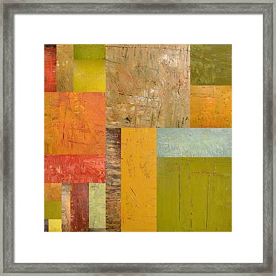 Thick Paint Abstract I Framed Print by Michelle Calkins