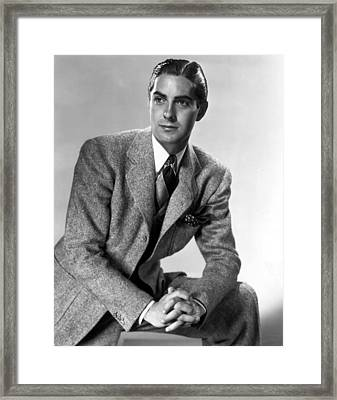 Thin Ice, Tyrone Power, 1937 Framed Print by Everett