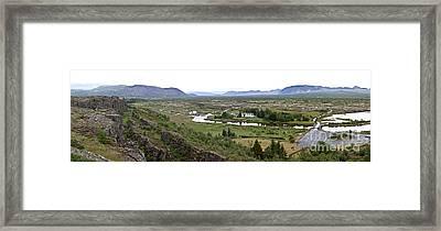 Thingvellir Valley Framed Print by Greg Dimijian