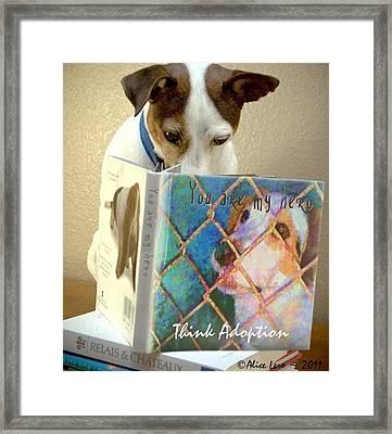 Think Adoption Framed Print by Alice Lero