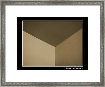 Think Outside Or Inside The Box    Optical Illusion Framed Print by Debbie Portwood
