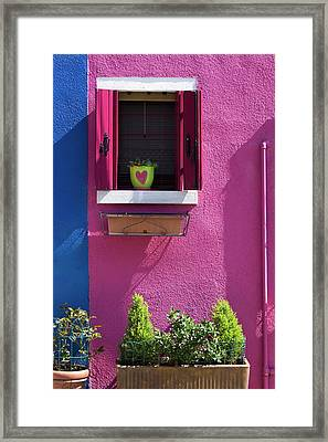 Framed Print featuring the photograph Think Pink by Raffaella Lunelli