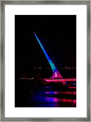 Framed Print featuring the photograph Think Pink Sundial by Randy Wood