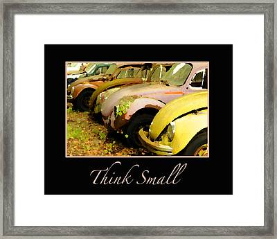 Think Small Framed Print by Nancy Greenland