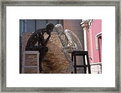 Thinkers Framed Print by Miguel Valvano