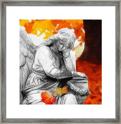 Thinking About Autumn Framed Print by Steve K