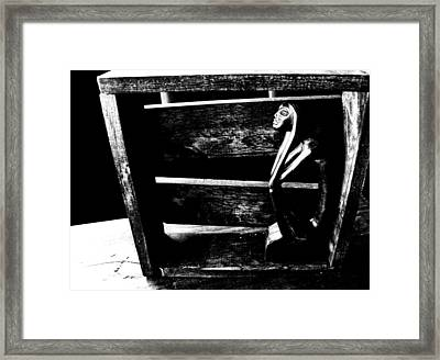 Thinking Inside The Box Framed Print by Sally Bauer