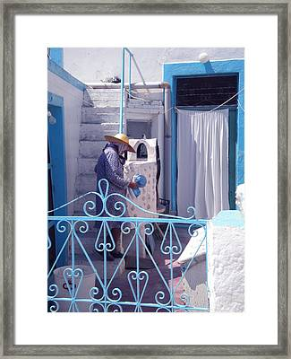 Thirasia Santorini Greece Framed Print