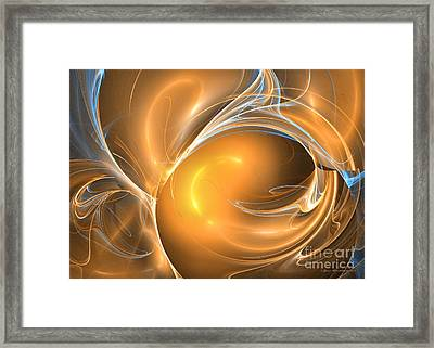 Third Life Of An Ear - Fractal Art Framed Print