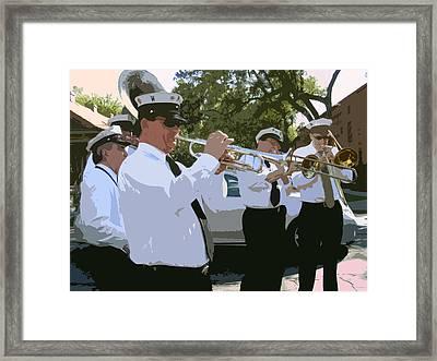 Third Line Brass Band Framed Print by Renee Barnes